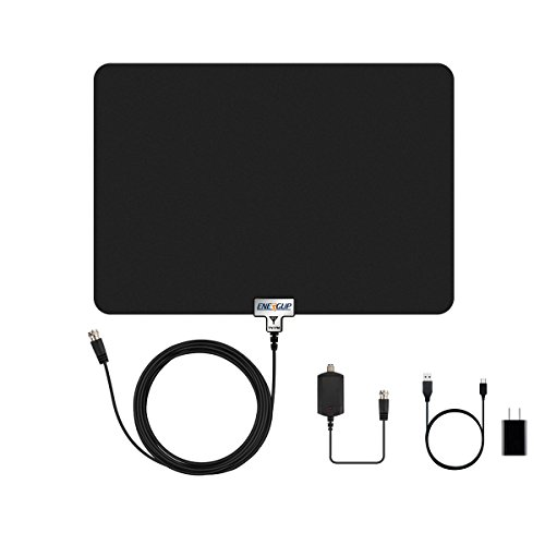 Energup Thin Digital Indoor TV Antenna, 50 Miles Range with
