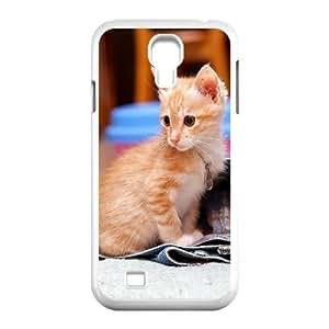 SamSung Galaxy S4 I9500 Cat Phone Back Case Custom Art Print Design Hard Shell Protection LK069566