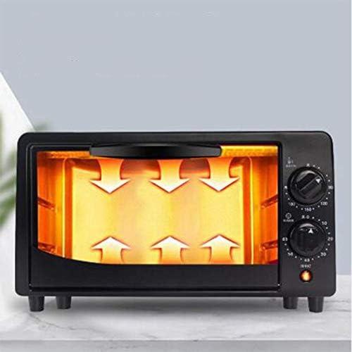 12L électrique Mini four avec deux plaques de cuisson, de multiples fonctions de cuisson Grill, Contrôle de température réglable, minuterie - 800W JIAJIAFUDR