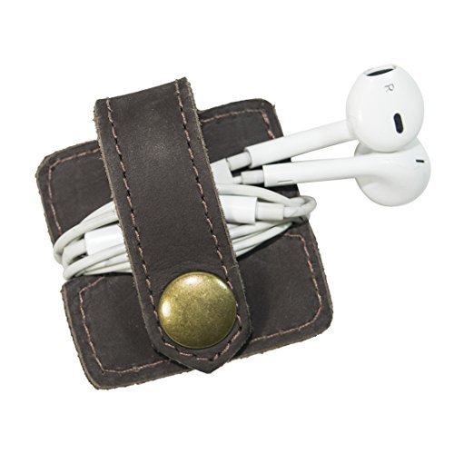Durable Leather Headphone Wrap With Snap Handmade By Hide & Drink :: - My Outfitters Urban Order