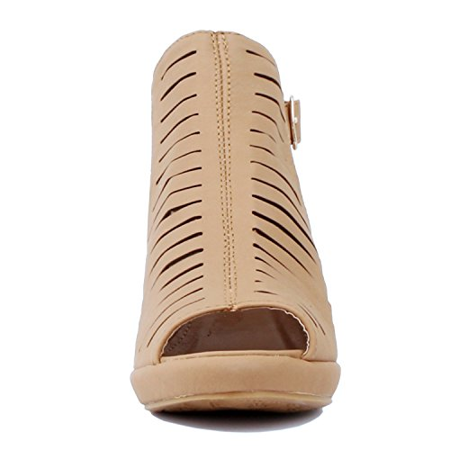 Pu Tanv2 Guilty Toe Mid Out Heart Heel Block Comfortable Sandals Shoe Chunky Walking Perforated Womens Strappy Open Cut STarAS0q