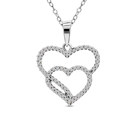 Mothers Day Gift Luxury Natural Diamond Pendant 0.15ct Diamond Pendant For Women I1-Clarity 10K White Gold Diamond Jewelry Gifts For Women (HI-Color) (Jewelry Gifts For Mothers Day) ()