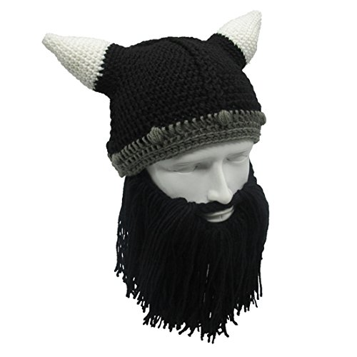 9c44146bc82 ZGZY kids Beard Hat Beanie Knit Pirate Barbarian Warrior Halloween Christmas  Viking Horns Bearded Caps Windproof