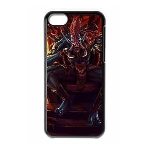 iphone5c phone case Black World of Warcraft WOW Vol'jin TTS4333339