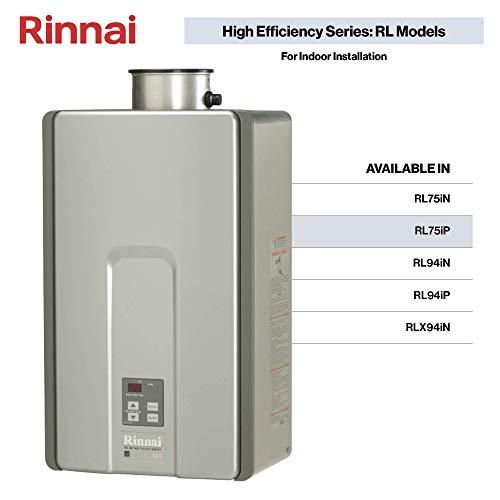 Rinnai RL75iP Tankless Water Heater, Medium, RL75iP-Propane/7.5 GPM