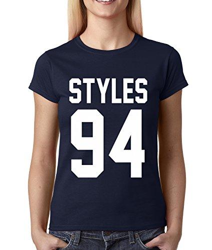 Womens Styles 94 T-Shirt Medium Navy Blue