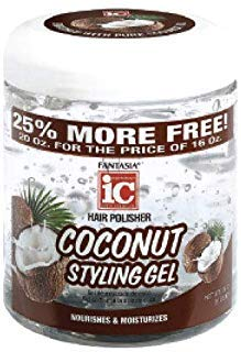 - FANTASIA Ic Coconut Styling Gel Nourish and Moisturize, 20 Ounce