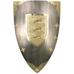 BladesUSA MC-4013 Medieval Shield 28-Inch x 18.5-Inch