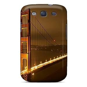 Durable Defender Case For Galaxy S3 Tpu Cover(cityscapes Bridges Golden Gate Bridge)