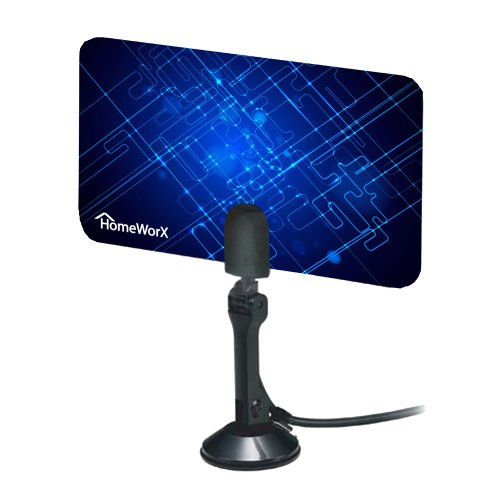 Mediasonic Homeworx HW110AN Super Thin Indoor HDTV Antenna - 25 Miles Range