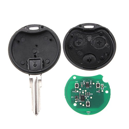 Button Car 433MHz Remote Key Fob Blade For Smart Fortwo Forfour City Roadster ()