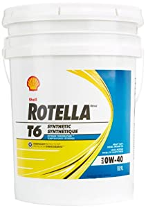 Shell rotella 550036271 t6 full synthetic for Shell rotella heavy duty motor oil