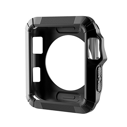 Apple Watch Case 42 mm,iwatch Rugged Armor Cover with Resilient Shock Absorption for 42mm Apple Watch Series 3/Series 2/1/Original (2015)/Nike+ Sport Edition