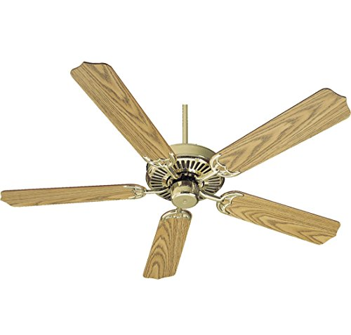 (Quorum International 77525-2 Capri I 52-Inch Ceiling Fan, Polished Brass Finish with Reversible Blades)