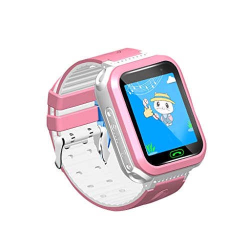 LEERYAAY DS63 Positioning Kids Safe Smart Watch Phone GPS Tracker Anti-Lost SOS Clock Pink