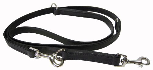 Hamilton 3/4″ x Multi-length Leather Euro Lead for Dogs – Black, My Pet Supplies