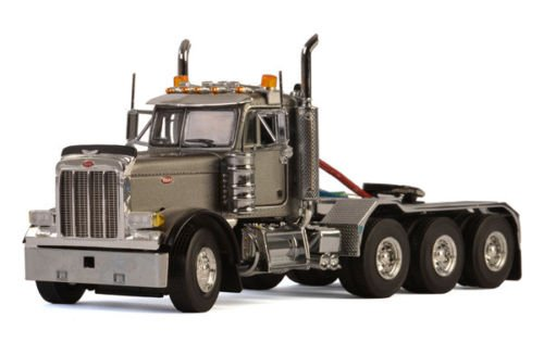 Axle Tractor Day Cab Silver 1/50 Diecast Model by WSI Models 33-2015 (Peterbilt Diecast)