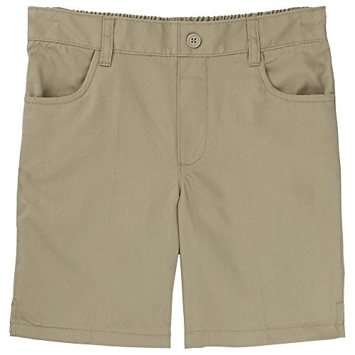 French Toast Little Girls' Toddler Pull-On Short, Khaki, 4T