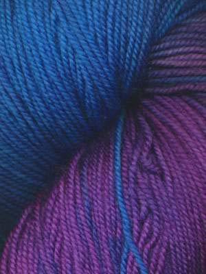- Ella Rae Lace Merino Hand Dyed Yarn Color 143 Sky, Turquoise, Deep Purple