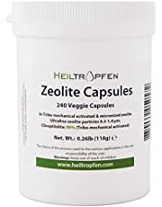 Zeoliet 240 Capsules   Clinoptiloliet 95%   3X geactiveerd   Natuurlijk mineraalstof minder dan 2 µm   Heiltropfen®