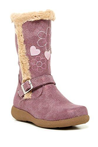 Rachel Kids Snowflake Faux Fur Trim Boot (Toddler & Little Kid) Pink