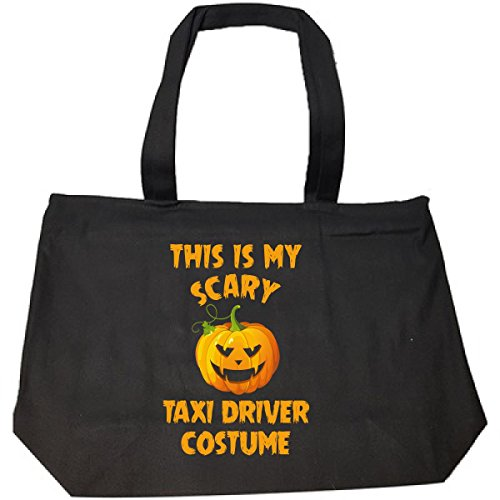 Taxi Driver Halloween Costumes (This Is My Scary Taxi Driver Costume Halloween Gift - Tote Bag With Zip)