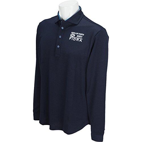 フィドラ FIDRA 長袖シャツ?ポロシャツ セミワイドカラー長袖ポロシャツ ネイビー XXL