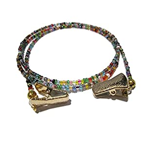 32 Colors Clip Eyeglass Holder - Eyeglass Necklace with Gold Clips