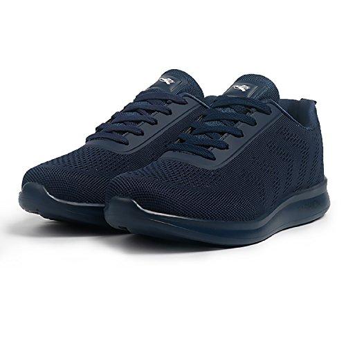 H-Mastery Zapatos Aire Libre y Deportes de Malla Transpirables Zapatillas de Running Padel para Hombre Azul