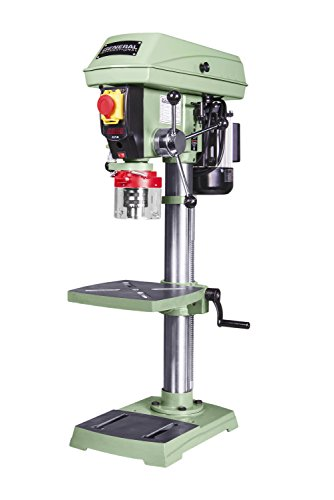General International 75-010 M1 Power Products Bench-Top Drill Press, 12'', Green by General International
