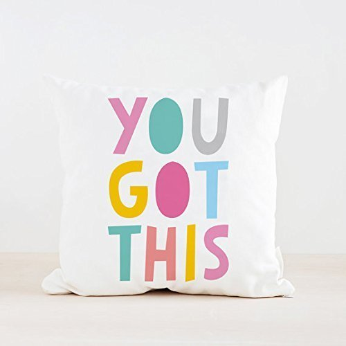 You Got This Throw Pillowcase, throw pillow cover, Cushion cover, quote pillow cover, motivational pillowcase, inspirational, 16x16, Gift for Her, Him