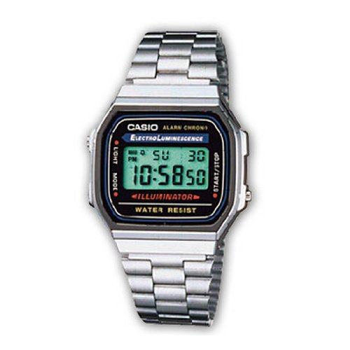 Casio Electro luminance Alarm Chrono Digital Watch A168WA (Alarm Casio Chrono)