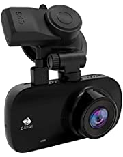 Z-Edge Z3G GPS Dash Cam, Quad HD 1440P Car Dash Camera, With 2.7 Inch LCD Display, G-Sensor, Parking Mode, WDR, Loop Recording, Motion Detection, Car Charger