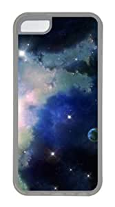 Customized Case Cosmic space N002 Transparent for Apple iPhone 5C