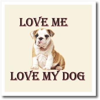 foto de Amazon.com: 3dRose ht_211742_2 Love Me Love My Dog. Bulldog. Iron ...
