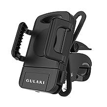 Bike mount, GULAKI Universal Bike Phone Holder Motorcycle Handlebar Mount for iPhone 7/6 Plus/5/5S/5C/4/4S Samsung Galaxy S6/S5/NOTE 5/4 Motorola Droid RAZR HTC One X LG GPS Holder (Black)
