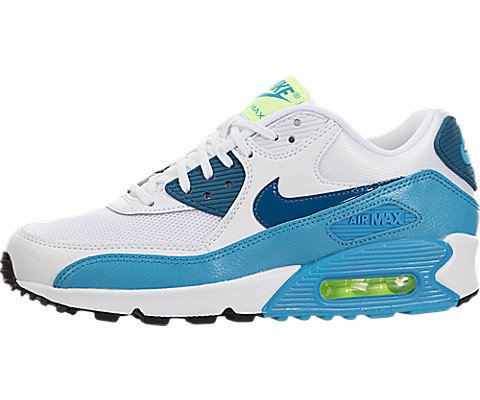 Nike Women's Air Max 90 White/Green Abyss-blue Lagoon Essential Trainers Shoes -  6.5 B(M) US (Air 90 Max Nike 616730)