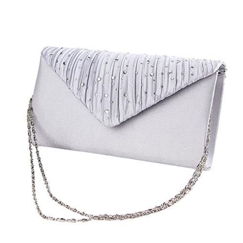 Heyjewels Elegant Glitzer Diamant Abend Clutch Damenhandtasche Ballabend Make-up mini Tasche