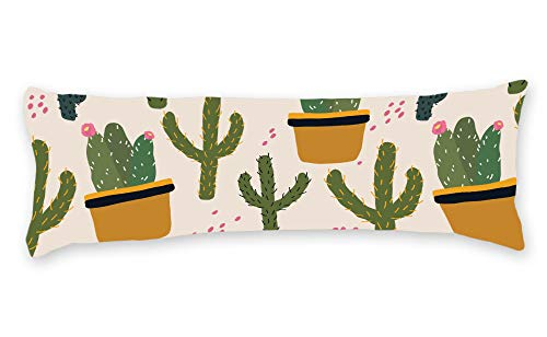 DKISEE Decorative Vegas Cactus Body Pillow Case Cover Washable Pillowcase with Double Sided Print, 20