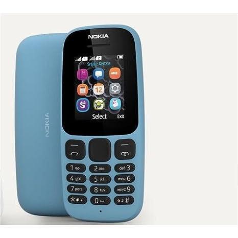 Nokia 105 [2017] TA-1037 Dual-Band (850/1900) Factory Unlocked Mobile Phone  Black no warranty (Black)