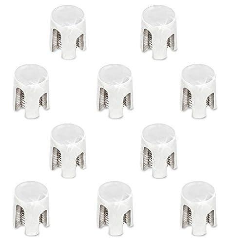 geschlossen - 6mm, 10 St/ück PRIOstahl/® Kreuzklemme aus rostfreiem Edelstahl V4A Kreuz Klemme Kreuzschelle Seilklemme