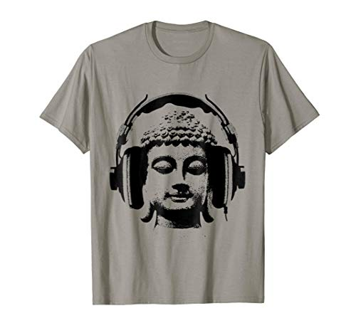 Buddha Wear Headphones DJ Music T-shirt, Headphones -