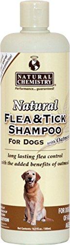 Natural Flea and Tick Shampoo with Oatmeal for Dogs, (Dog Sham)