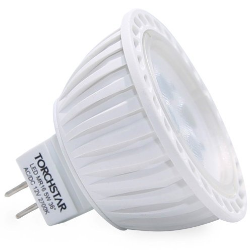LED MR16 Bulb, 36° Spotlight with GU5.3 Bi-pin Base for Landscape, Track, Recessed, Accent Lighting, 5W (50W Equiv.), 2700K Soft White