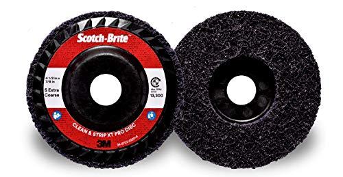 Scotch-Brite Clean and Strip XT Pro Extra Cut Disc, T27 Quick Change, 4-1/2 in x 5/8 in-11, A XCS, 10 per case