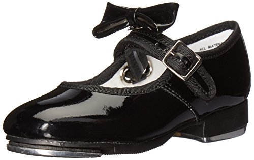 Capezio 3800 Mary Jane Tap Shoe (Little Kid/Big Kid),Black Patent,9 W US Toddler
