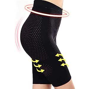 Jiadi 4 Veces calorías quemando Adelgazamiento Yoga Sport Ropa Interior Pantalones para Mujer, Negro