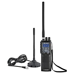 Cobra Electronics HHRT50 Citizens Band 2-Way Handheld CB Radio with Magnet Mount Antenna, Black