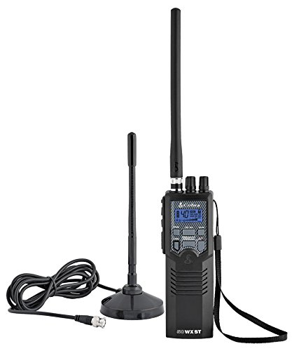 Cobra HHRT50 Road Trip Cb Radio,2-Way Handheld Cb Radio with Rooftop Magnet Mount Antenna, NOAA Channels, Dual Watch, 40 Channel, Black
