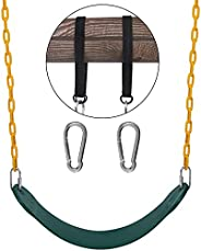 """Heavy Duty Swing Seats with Chain of 66"""", Replacement Playground Accessories with Carabiners and Suspensi"""